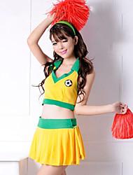 Wild Girl Yellow & Green Polyester 2014 Brazil World Cup Football Baby Cheerleader Uniform