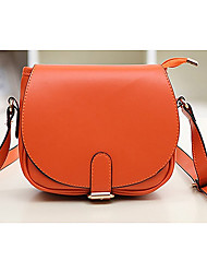 Beauty Women's PU Leather Candy Color Shoulder Bag