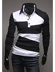 Tizeland Men's Irregular Pattern Long Sleeves T-Shirt 1072
