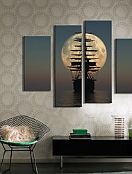 Stretched Canvas Art Landscape Shipping Set of 4