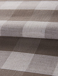 "Modern Chocolate Plaid Cotton Jacquard Fabric (Fabric Weight-Medium) - Width=110"" (280 cm)"