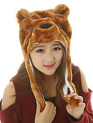 Unisex Endearing Big Bear Warm Fuzzy Kigurumi Aminal Beanie