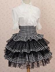 Saia Lolita Clássica e Tradicional Elegant Cosplay Vestidos Lolita Rendas Comprimento Médio Saia Para Poliéster