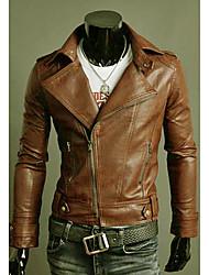 Style Minceur Motocycle coréen Veste Manteau KICAI hommes (écran couleur)