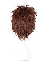Cosplay synthétique de haute qualité perruque Naruto Gaara perruque courte droite (Brown)