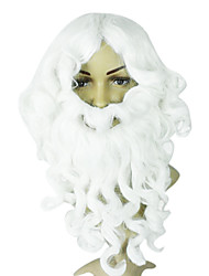 White Synthetic Cristmas wavy wig