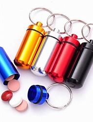Алюминиевый сплав Портативный первой помощи Медицина Box (цвет случайный)