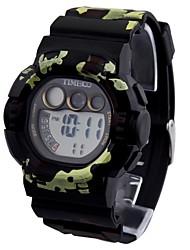 Numérique Style Forces armées Time100 enfants Dial PU bande Japaness quartz multifonction sport en plein air montre