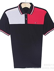 Homens gola redonda manga curta Polo Camiseta