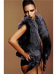 gilet di pelliccia con il partito dello scialle maniche di pelliccia di volpe / gilet casuale