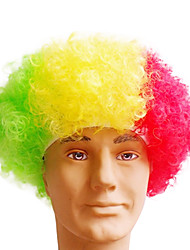 Black Afro Wig Fans Bulkness Cosplay Christmas Halloween Wig Guinea Flag Wig 1pc/lot
