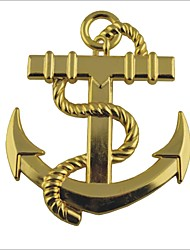 """""""Gancho de barco"""" 3D Estilo Grill Decoração Emblem para Car Tuning"""