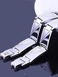 Персональный подарок Треугольник План ювелирные из нержавеющей стали с гравировкой ID Браслеты 1.2cm Ширина