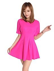 Damen Kleid Niedlich Mini Polyester