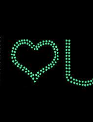 Leuchtende Sterne Diy I LOVE U-Wand-Aufkleber dekorativen Aufkleber