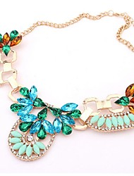 Women's Fashion  Flower Short Necklace