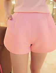 Women's Simple Temperament Solid Color High Waist Shorts