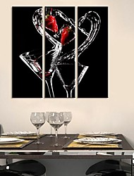 Stretched Canvas Art Still Life The Dance of Wine Set of 3