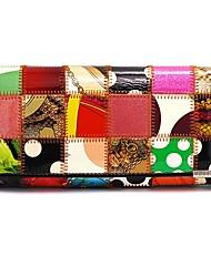 KIVI Leather Exotic Check Print Multi-Color Handbag