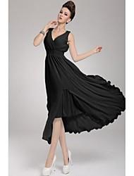 Women's New Summer Sleeveless Bohemia V Neck Slim Dress