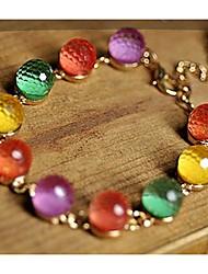 Shining  Vintage Alloy Lovely Colorful Strands Bracelet  (Screen Color)