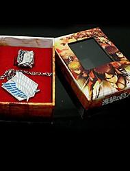 Schmuck Inspiriert von Attack on Titan Eren Jager Anime Cosplay Accessoires Halsketten Silber Legierung Mann