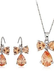 Estilo de la moda del pendiente del collar de la aleación de la mariposa de la joyería de