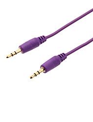 3,5 millimetri maschio a maschio Nylon audio AUX cavo di collegamento (Viola, 1M)