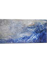 Hand Painted Oil Painting Abstract Blue Painting For Home Decoration with Stretched Frame