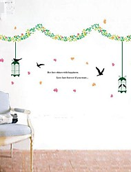 Florals Vines y The Wall Stickers Free Bird