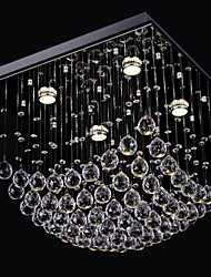SL® Elegent Chinese Crystal Chandelier 4 Lights with Flush Mount
