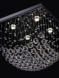 sl® elegent lustre de cristal chinês 4 luzes com encastrar
