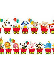 Cartoon Whole Train animal Stickers muraux