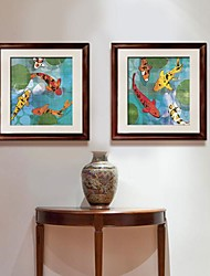 The Fish Framed Canvas Set de 2