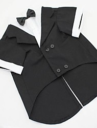 Dog Coat / Tuxedo Black / Gray Spring/Fall Classic Wedding