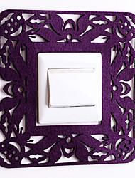 Paper Cut Square Purple Light Switch Stickers