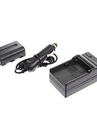 ismartdigi-Sony NP-FM500H 1650mAh, 7.2V Carregador de Bateria Câmera + Car para SONY A57 A65 A77 A450 A560 A580 A90