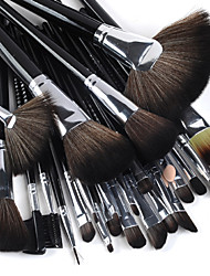 24PCS Professional High Quality Makeup Brush Set with Perfectly Black Handle