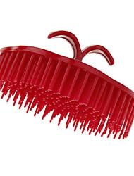 Rouge arrondi Shampooing peigne