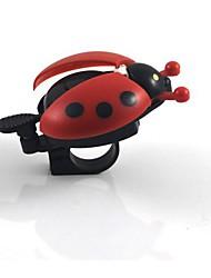 Симпатичные Стиль Жук велосипедов вызывного сигнала - красный + черный