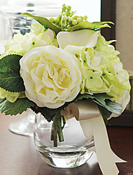 "7""H Exquisite Tabletop Flower Bouquet Arrangement (Green)"