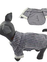 Katzen / Hunde T-shirt / Hemd Schwarz Hundekleidung Frühling/Herbst Plaid/Karomuster