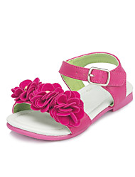 Leatherette Girls' Flat Heel Comfort Sandals with Flower Shoes(More colors)