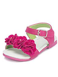 Talon plat de similicuir filles Confort Sandales Chaussures avec la fleur (plus de couleurs)