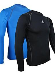 arsuxeo compresión larga manga medias de fútbol soccer de fitness ciclista capa de correr las bases camisas hocky camiseta de los hombres