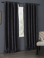 Modern Two Panels Floral  Botanical  Living Room Polyester Blackout Curtains Drapes