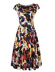 CD floral grande swing vestido-H0985