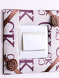 Letter Square Light Switch Stickers
