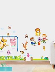 Desenhos animados Parque Animais E Crianças jogo junto Wall Stickers