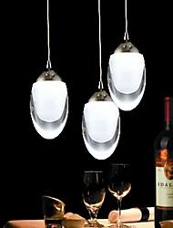 250 milímetros rodada 3Wx3 LED Egg-Shaped Lustre Luz luminária para Living Room Bar Saloon Sala de Jantar